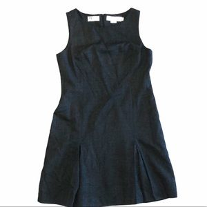 JH Collectibles Grey Wool Pelleted Wool Dress